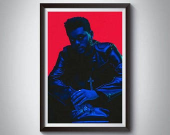 Hip Hop Inspired Art Poster Print, The Weeknd, Rap Poster, The Weeknd Poster