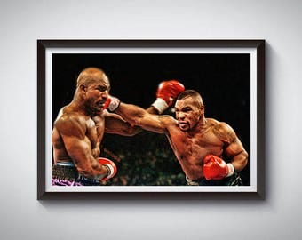 Boxing Inspired Art Poster Print, Mike Tyson Poster