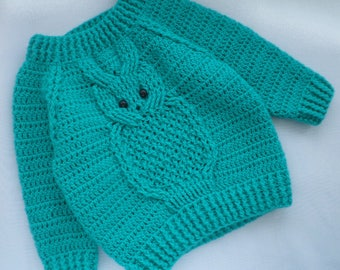 Knitting Design For Baby Boy Sweater : Aran knitting patterns Etsy UK