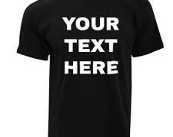 Customized, Personalized, Made-to-order Custom T-shirts for Adults and Kids