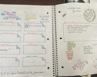 Bullet Journals made for you!! All handmade layouts that you fill in to fit your needs.