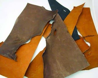 6-7 oz Genuine Latigo Leather Pieces