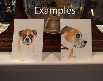 Custom Pet Portrait Postcard