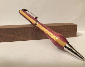 Purple Heart and Yellow Heart Slimline Pen