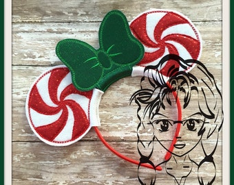 PEPPERMINT CaNDY Christmas Inspired (3 Piece) Mr Miss Mouse Ears Headband ~ In the Hoop ~ Downloadable DiGiTaL Machine Emb Design by Carrie