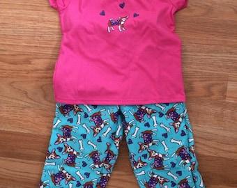 Teal Puppy Pajamas
