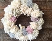 Charity pom pom wreath workshop