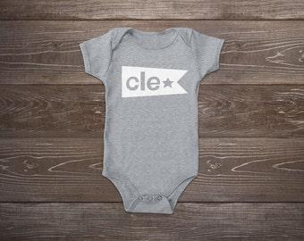 Cleveland Flag Baby Onesie