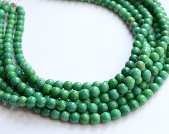 The Michelle- Green Magnesite Statement Necklace