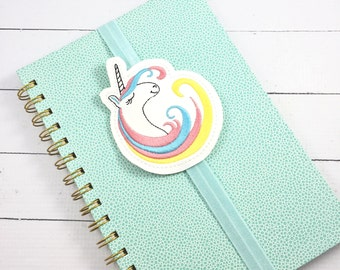Bookmark- planner band - unicorn bookmark accessory - planner accessories for happy mambi bullet passion positive planners and journals