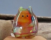 Cat Bead Handmade Lampwork Focal by teribeads - Jaclyn FatCat