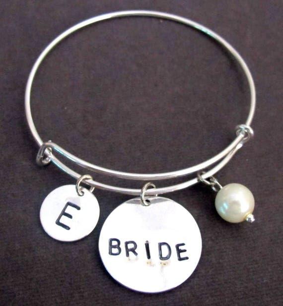Personalized Bride bracelet, Bride bangle, Bride bracelet, Gift for bride to be, Wedding gift jewelry, Bridal bracelet, Free Shipping In USA