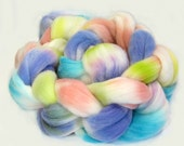 "Targhee Roving 100% Wool Hand Painted 4 Oz. ""Cotton Candy"""