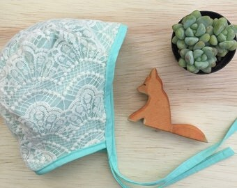 Little Cove Bonnet// Baby Bonnet // Brimless Bonnet // Baby Shower Gift