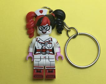 Lego Keychain / Phone Strap (The LEGO Batman Movie - Nurse Harley Quinn)