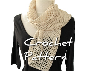 Crochet scarf pattern, DIY corner to corner bias pattern, crocheters gift, uk us terminology, make it yourself easy instant download pdf