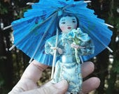 Clothes pin wood doll