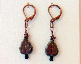 Earrings Dangle Earrings Goth Yule Tree Earrings #026