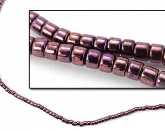 DBV012- 11/0 Metallic Dark Raspberry Delica Beads