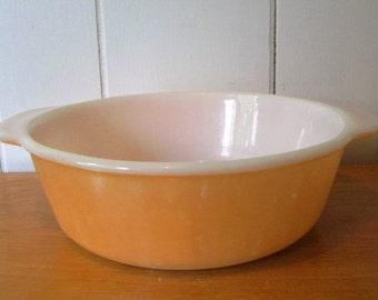 vintage peach lustre Fire King wheat 1 1/2 quart casserole