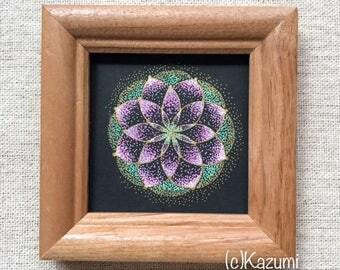 Stipple Mandala - Sakura, Art, Original
