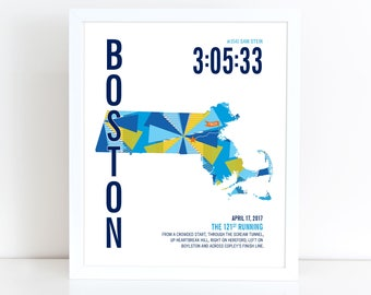 Personalized Boston Marathoner Map
