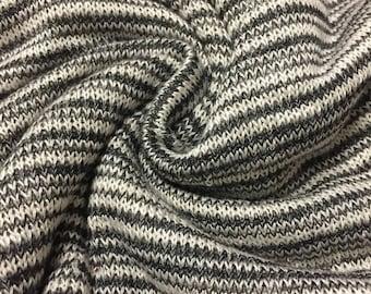 Mini Stripes Sweater Knit Fabric 1-3/4  Yards