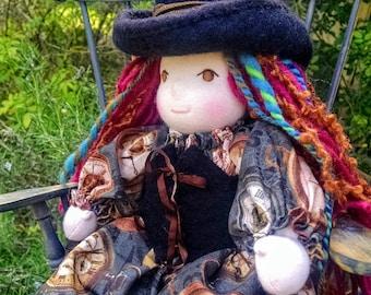 Steampunk Time Traveling Waldorf Doll CUSTOM ORDER