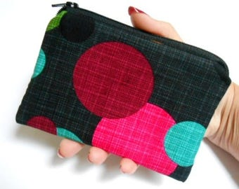 Little Padded Zipper Pouch Coin Purse ECO Friendly NEW Round Magenta