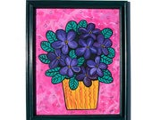 African Violets Painting ...