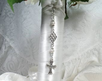 Bridal Bouquet Charm Cross Bouquet Charm Wedding Bouquet Charm Bouquet Accessory Bridal Gift Wedding Keepsake