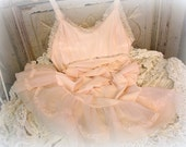 vintage pink slip lingerie slip monochromatic girly girl pink size 36