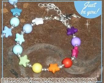 Rainbow Star Bracelet - custom sizes available!