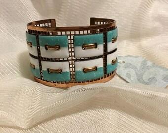 Vintage Matisse Tapestry Cuff Bracelet