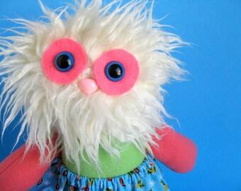 Girl Yeti Monster Doll Plush Abominable Snowman Twirl Skirt Stuffed animal Colorful