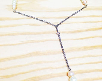 Pearl jewelry chain necklace long necklace Romantic chic bohemian jewelry
