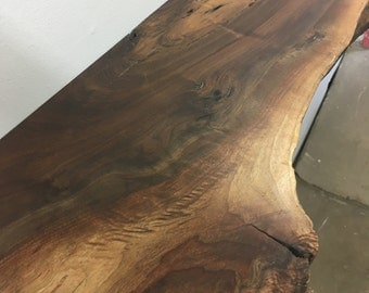 Live Edge Shelf -  No. 36- Thick Walnut Mantel