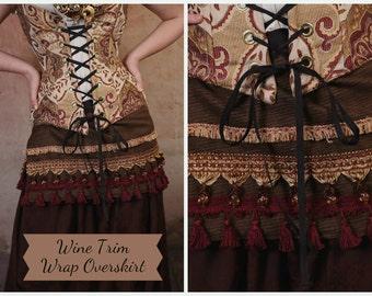 S - Wine Trim Wrap Overskirt