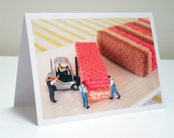 054 - wafers - greeting card