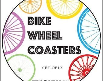 Bike Wheel Coasters