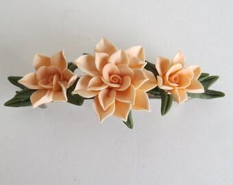 Barrett French Peach Handmade Flowers Cold Porcelain Gift for Her