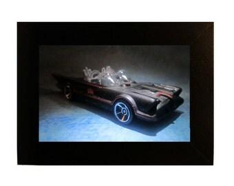 "Framed Batmobile Toy Photograph 4x6"" Batman Car"
