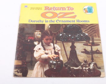The Return to Oz, Dorothy in the Ornament Rooms, Vintage, Children's Books, Illustrations ~ The Pink Room ~ 161002A