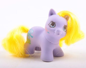My Little Pony, Purple Pony, Yellow Hair, Baby, MLP, Collectible, Flaw, Booties ~ The Pink Room ~ 170221