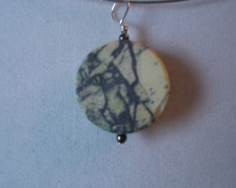 Sterling and Yellow Turquiose Pendant,  unpolished