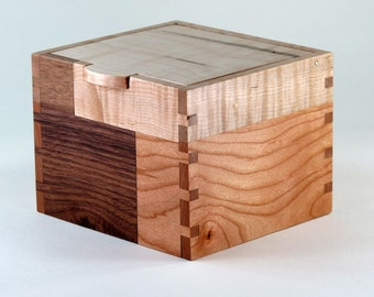 Keepsake Box, Quilted Pattern of Reclaimed Wood