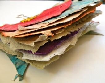 EPHEMERA hand made paper, scraps, buttons, vintage, stationary, art
