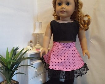 Polka Dot Party-3pc Outfit--Fits 18 doll LIKE American Girl