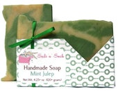 Mint Julep Soap Made with Real Kentucky Bourbon and Peppermint Essential Oil - Kentucky Derby Gift - Vegan - Cold Processed - Artisan
