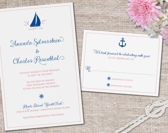 Sail Away With Me Wedding Invitation